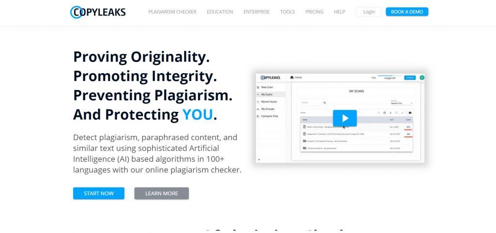 网站的文章如何查重 copyleaks.com